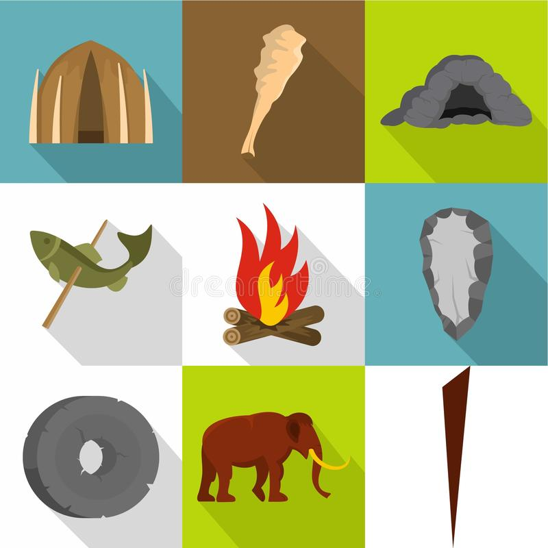 Κοινά εικονίδια προγόνων καθορισμένα, επίπεδο ύφος ελεύθερη απεικόνιση δικαιώματος