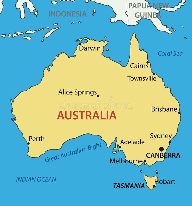 Κοινοπολιτεία της Αυστραλίας - χάρτης ελεύθερη απεικόνιση δικαιώματος
