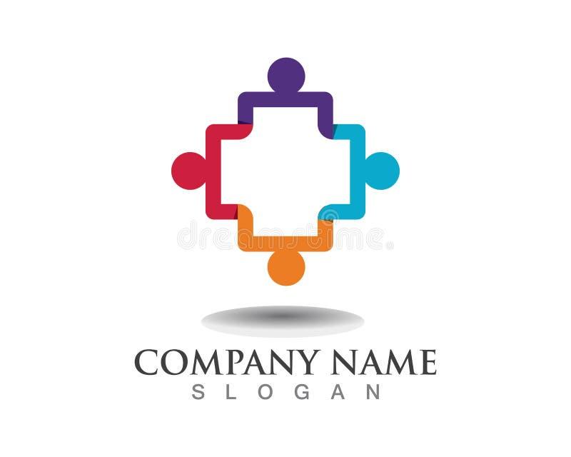 Κοινοτικά ανθρώπων λογότυπα ανθρώπων λογότυπων κοινοτικά απεικόνιση αποθεμάτων