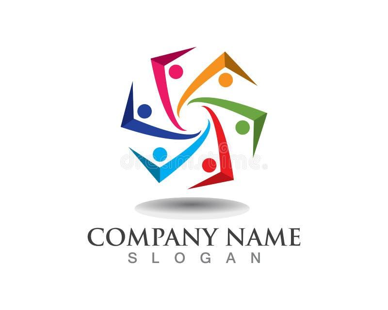 Κοινοτικά λογότυπα συμβόλων λογότυπων ομάδας ελεύθερη απεικόνιση δικαιώματος