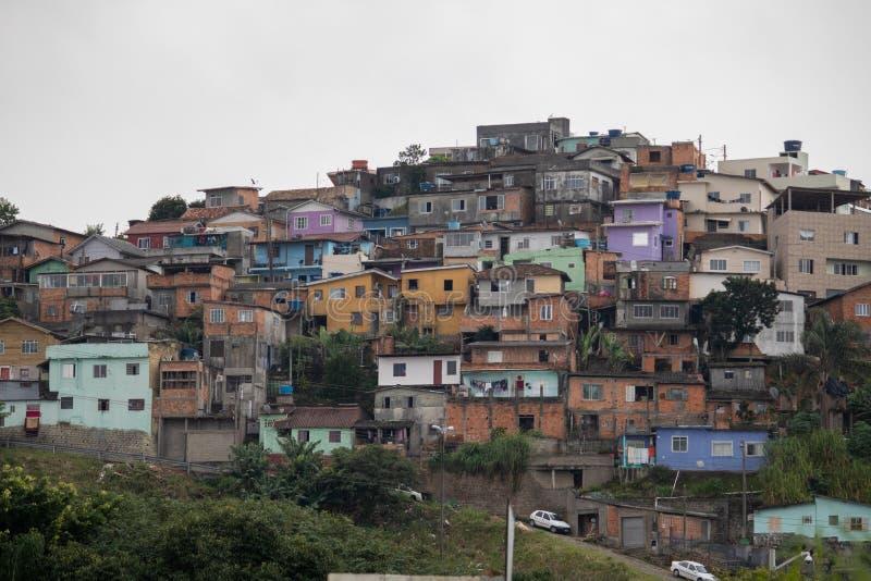 Κοινοτικά polis ³, βραζιλιάνο favela ανάγκης florianà στοκ εικόνες