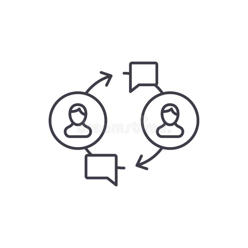 Κοινοτική έννοια εικονιδίων γραμμών Κοινοτική διανυσματική γραμμική απεικόνιση, σύμβολο, σημάδι διανυσματική απεικόνιση