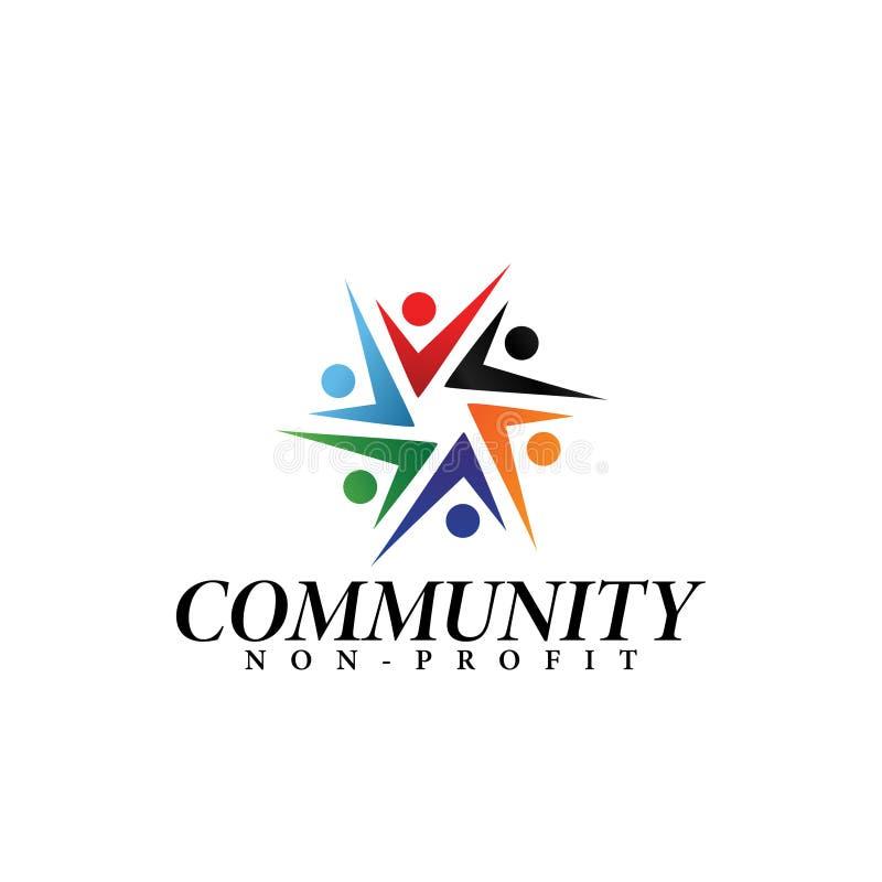 Κοινοτική απομονωμένη διάνυσμα απεικόνιση προτύπων σχεδίου λογότυπων διανυσματική απεικόνιση
