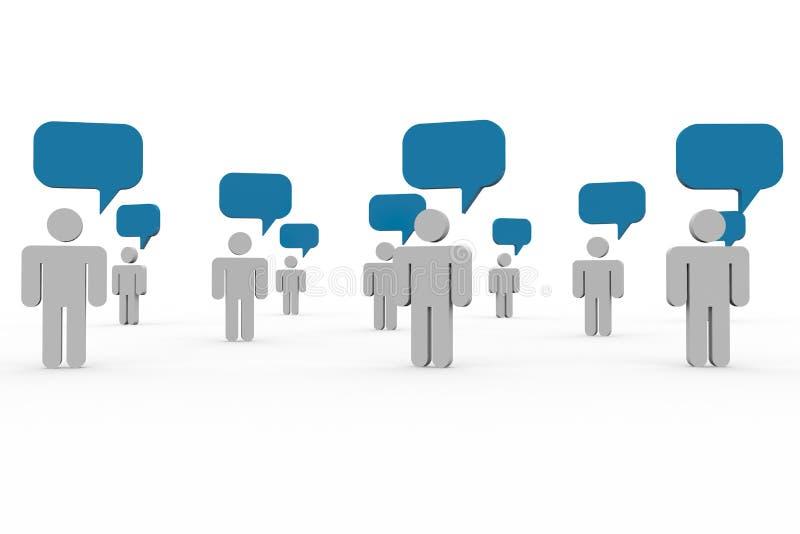 κοινοτική ομιλία ανθρώπω&nu απεικόνιση αποθεμάτων