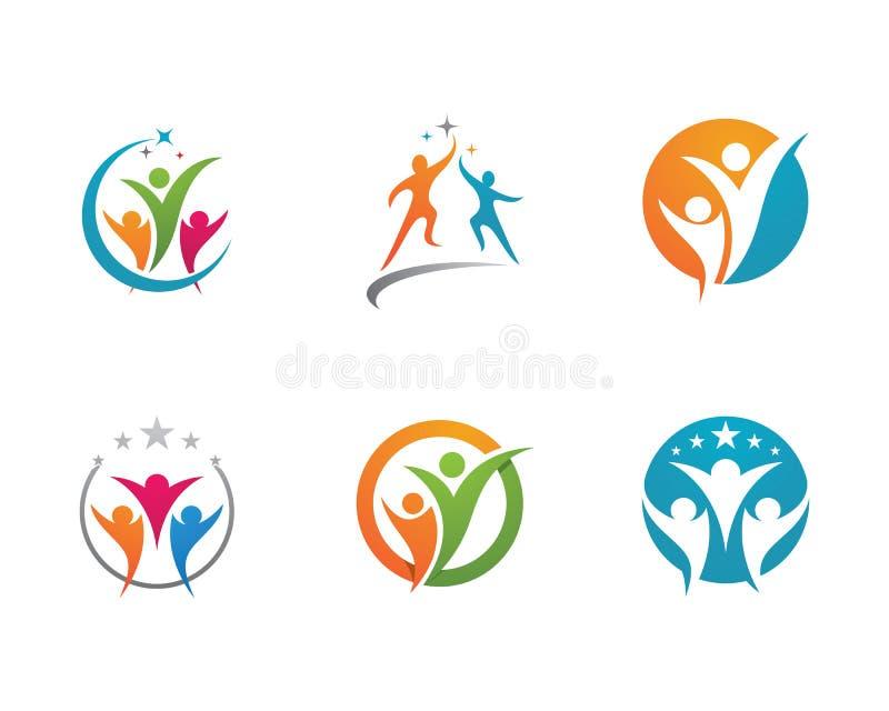 Κοινοτικό λογότυπο προσοχής απεικόνιση αποθεμάτων