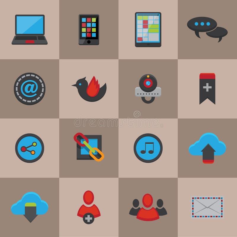 Κοινωνικά εικονίδια μέσων καθορισμένα απεικόνιση αποθεμάτων