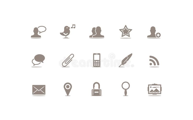 Κοινωνικά μέσα και εικονίδιο Blog απεικόνιση αποθεμάτων