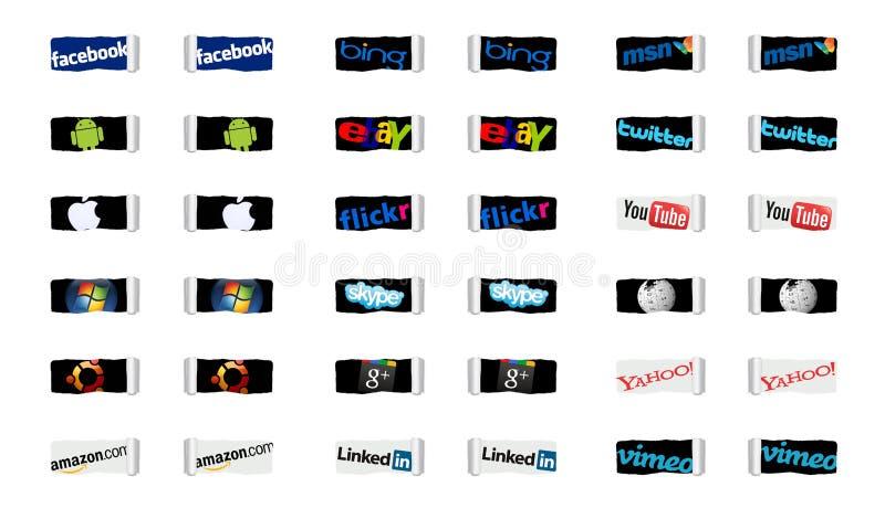 Κοινωνικές δίκτυα και τεχνολογία Διαδικτύου διανυσματική απεικόνιση