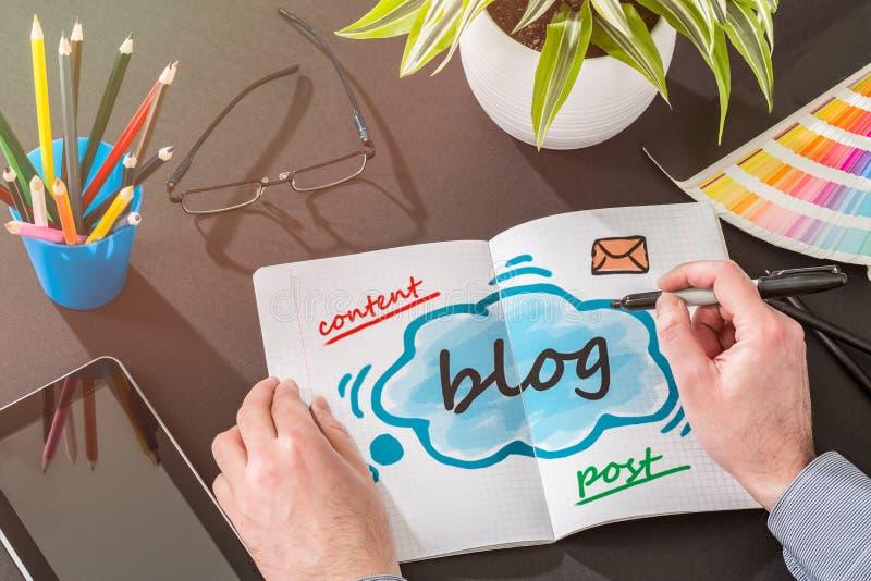 Κοινωνική έννοια περιεχομένου επικοινωνίας μέσων Blog στοκ εικόνες