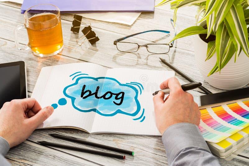 Κοινωνική έννοια περιεχομένου επικοινωνίας μέσων Blog στοκ εικόνα