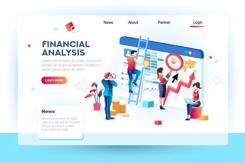 Κοινωνική έννοια Infographic Analytics χρηματοδότησης ελεύθερη απεικόνιση δικαιώματος