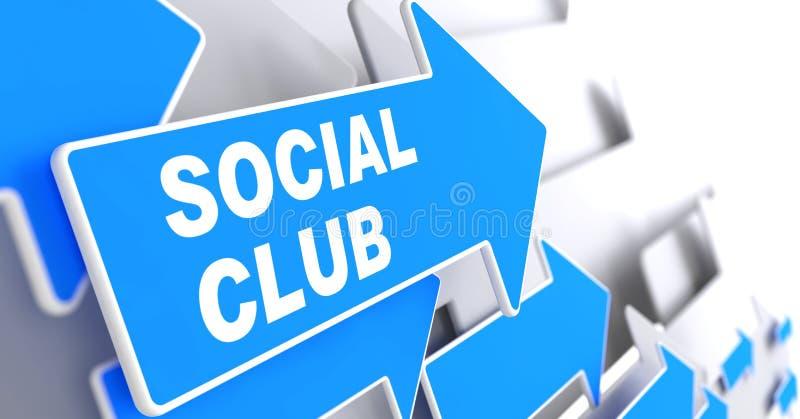 Κοινωνική λέσχη. διανυσματική απεικόνιση