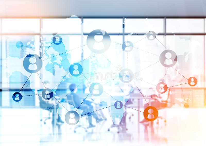 Κοινωνική αίθουσα συνδιαλέξεων δικτύων διανυσματική απεικόνιση
