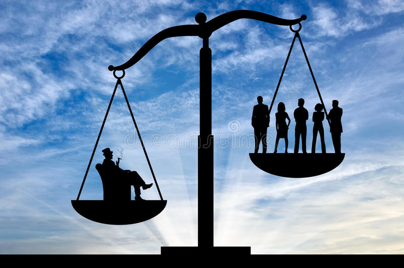 Κοινωνική ανισότητα μεταξύ των πλούσιων και απλών ανθρώπων στοκ φωτογραφίες με δικαίωμα ελεύθερης χρήσης