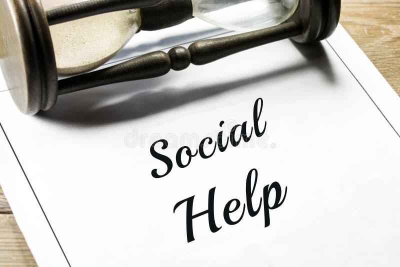 Κοινωνική βοήθεια στοκ φωτογραφία