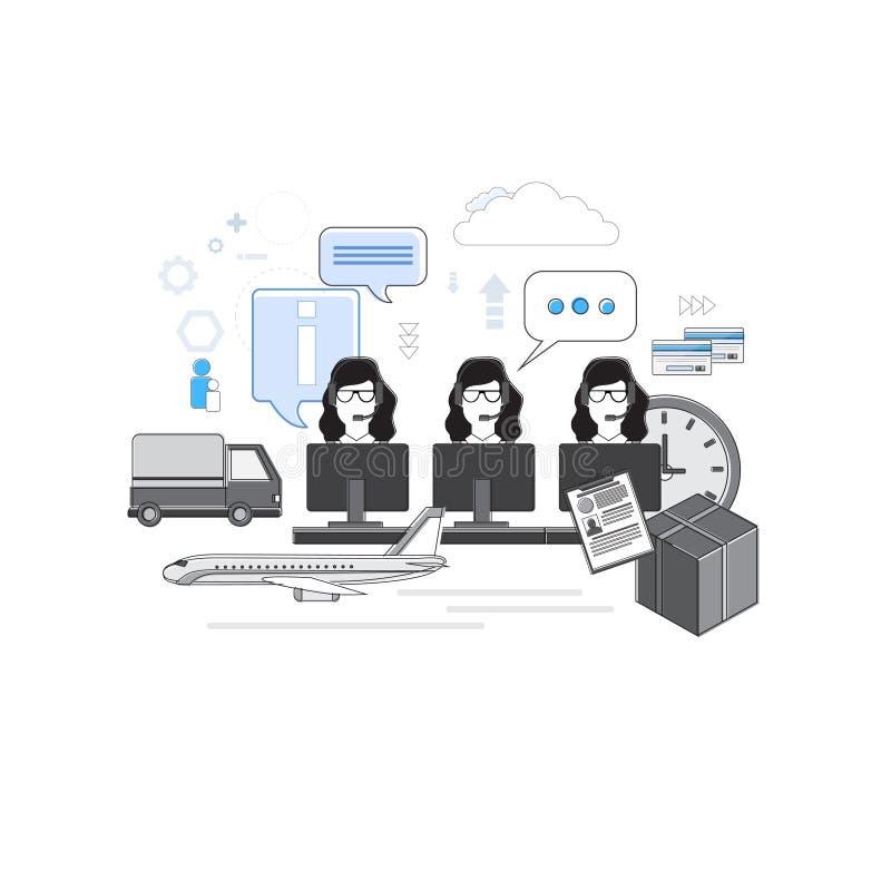 Κοινωνική γραμμή δικτύων επικοινωνίας συνομιλίας υποστήριξης ομάδας διαβούλευσης υπηρεσιών παράδοσης λεπτά απεικόνιση αποθεμάτων