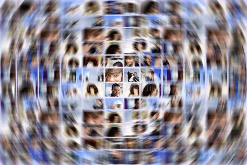 Κοινωνική επέκταση μέσων στοκ εικόνες
