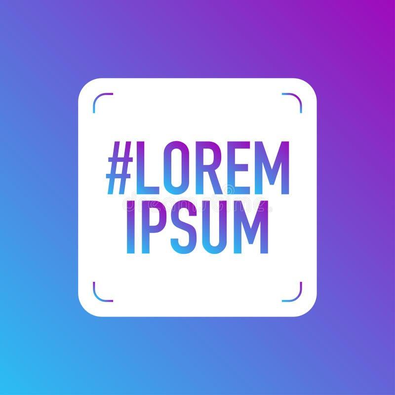 Κοινωνική επαφή μέσων που μοιράζεται lorem το λογότυπο ipsum ελεύθερη απεικόνιση δικαιώματος