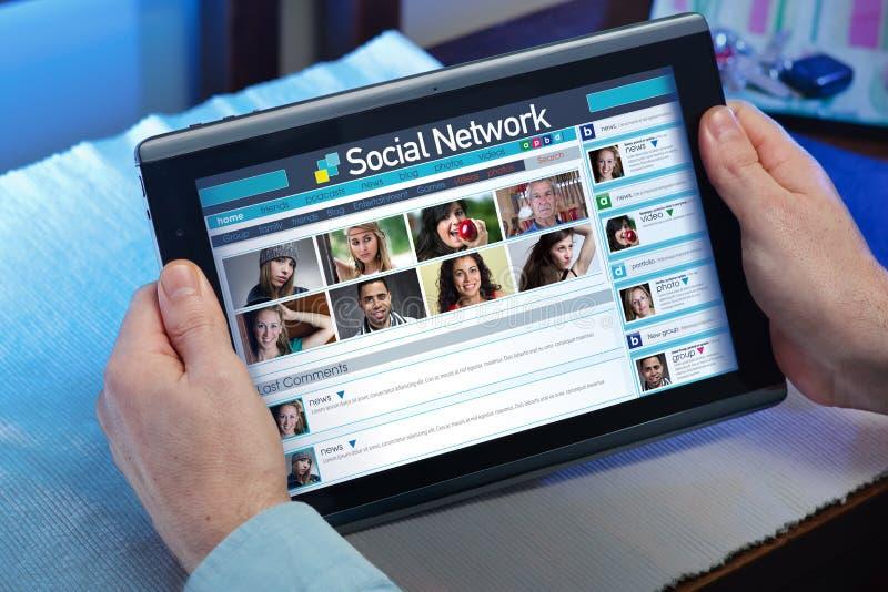 Κοινωνική ζωή Διαδικτύου στοκ φωτογραφία