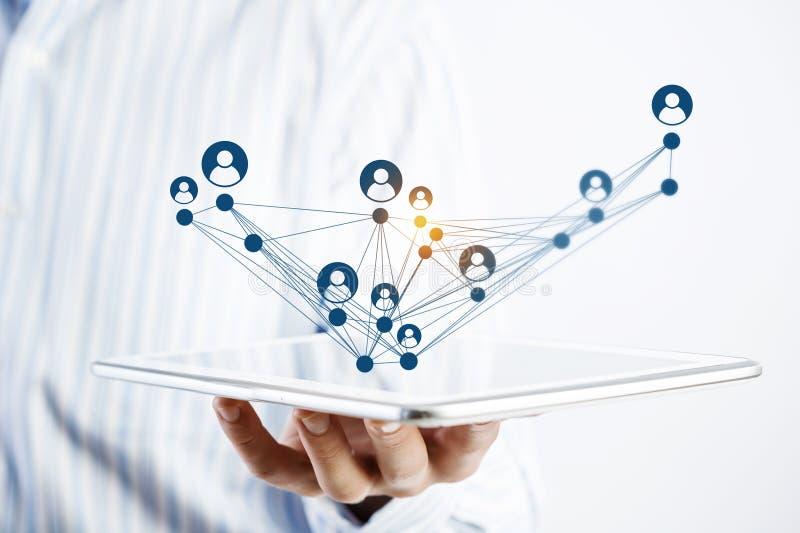 Κοινωνική δομή δικτύων ως έννοια στοκ φωτογραφία με δικαίωμα ελεύθερης χρήσης