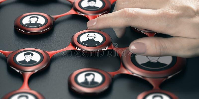Κοινωνική σχέση δικτύων και επιχειρήσεων στοκ εικόνες