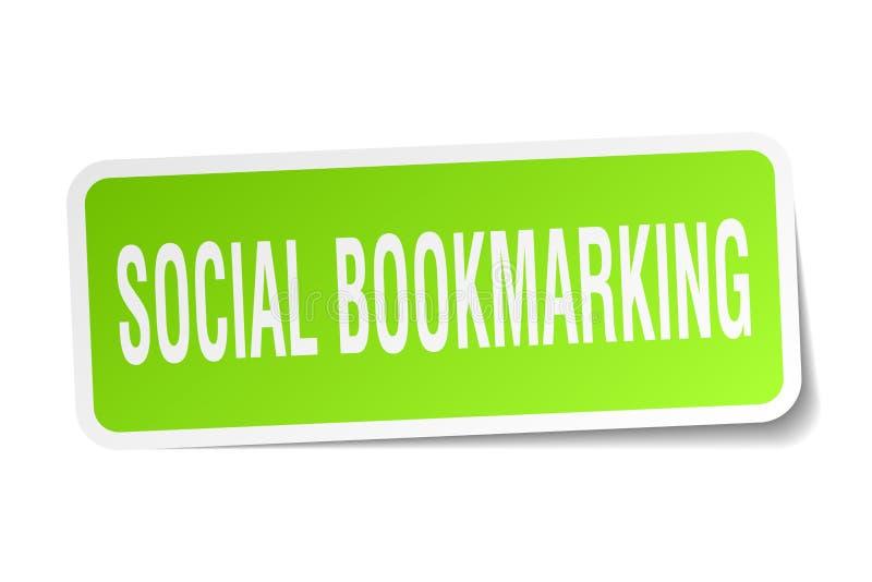 κοινωνική bookmarking αυτοκόλλητη ετικέττα ελεύθερη απεικόνιση δικαιώματος