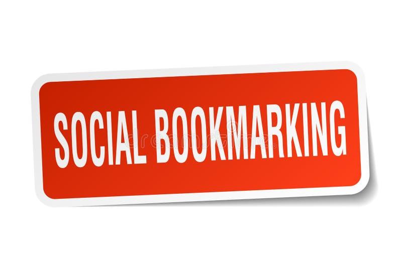 κοινωνική bookmarking αυτοκόλλητη ετικέττα διανυσματική απεικόνιση