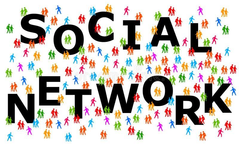 Κοινωνικοί άνθρωποι δικτύων απεικόνιση αποθεμάτων
