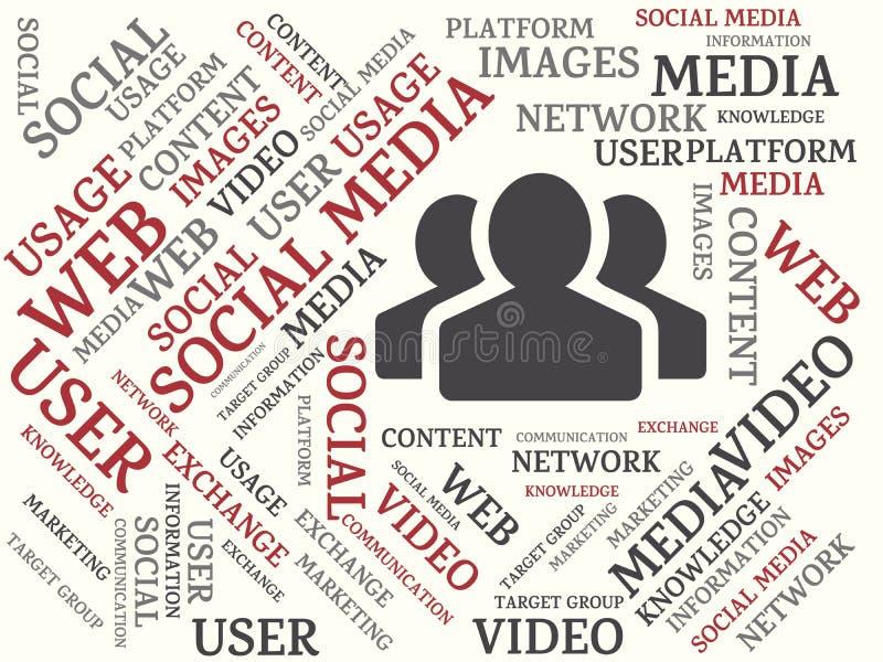 ΚΟΙΝΩΝΙΚΟ MEDIA - εικόνα με τις λέξεις που συνδέονται με το ΚΟΙΝΩΝΙΚΌ MEDIA θέματος, λέξη, εικόνα, απεικόνιση απεικόνιση αποθεμάτων