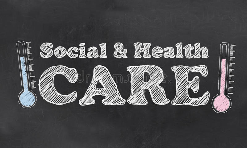 Κοινωνικός και υγειονομική περίθαλψη απεικόνιση αποθεμάτων