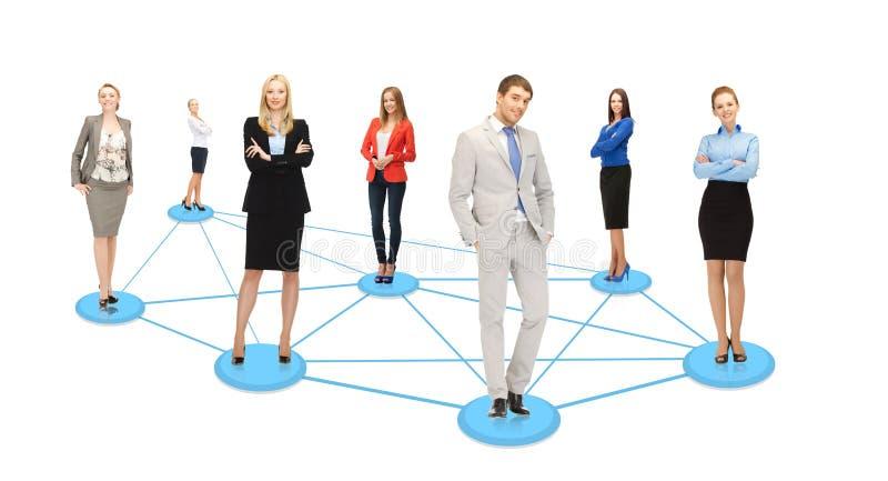 Κοινωνικό ή επιχειρησιακό δίκτυο στοκ φωτογραφίες με δικαίωμα ελεύθερης χρήσης