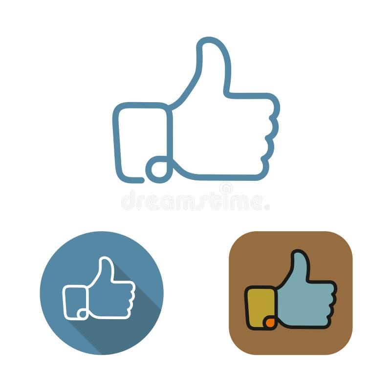 Κοινωνικό δίκτυο περιγράμματος όπως το εικονίδιο και αυτοκόλλητες ετικέττες καθορισμένες απεικόνιση αποθεμάτων