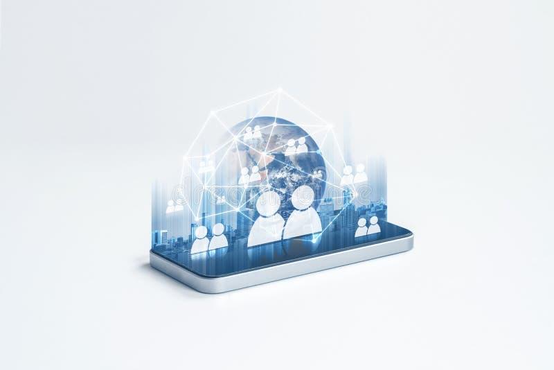 Κοινωνικό δίκτυο, κινητές τηλεφωνικό δίκτυο Ίντερνετ και τεχνολογία επικοινωνιών Το στοιχείο αυτής της εικόνας εφοδιάζεται από τη διανυσματική απεικόνιση