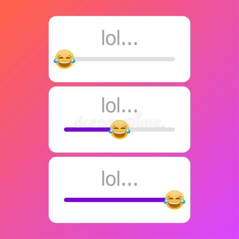 Κοινωνικό διάνυσμα χαμόγελου κλίμακας ψηφοφορίας δικτύων lol διανυσματική απεικόνιση