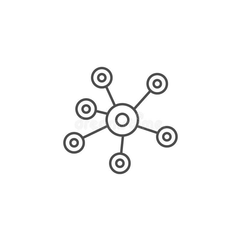 Κοινωνικό εικονίδιο γραμμών μέσων διανυσματική απεικόνιση