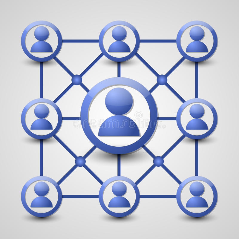 Κοινωνικό εικονίδιο δικτύων απεικόνιση αποθεμάτων