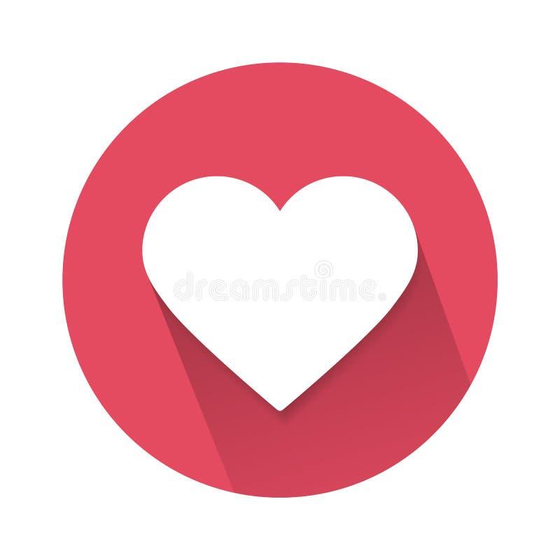 Κοινωνικό εικονίδιο καρδιών αγάπης που απομονώνεται στο άσπρο υπόβαθρο επίσης corel σύρετε το διάνυσμα απεικόνισης απεικόνιση αποθεμάτων