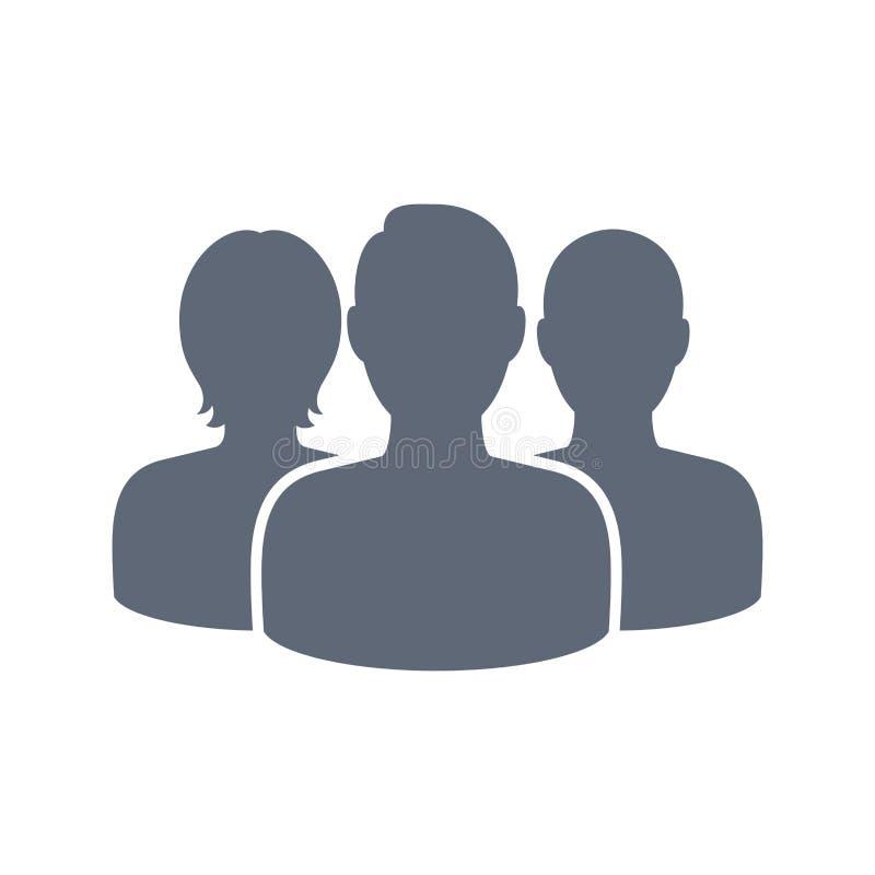 Κοινωνικό εικονίδιο παραμέτρων χρήστη δικτύων τρία pics διανυσματική απεικόνιση