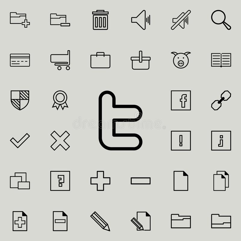 κοινωνικό εικονίδιο σημαδιών δικτύων Λεπτομερές σύνολο minimalistic εικονιδίων Γραφικό σχέδιο ασφαλίστρου Ένα από τα εικονίδια συ ελεύθερη απεικόνιση δικαιώματος