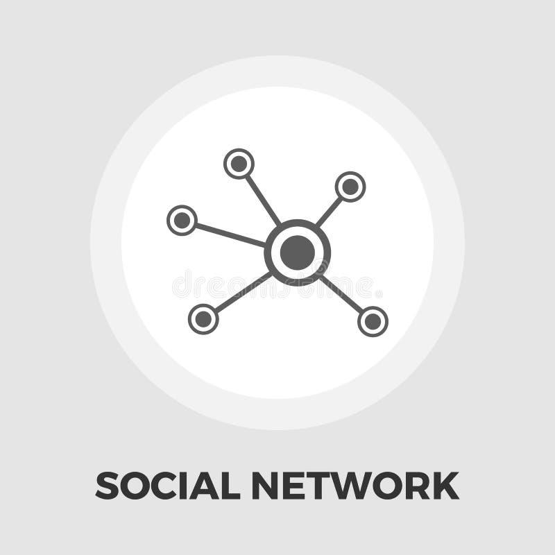 Κοινωνικό εικονίδιο δικτύων επίπεδο απεικόνιση αποθεμάτων