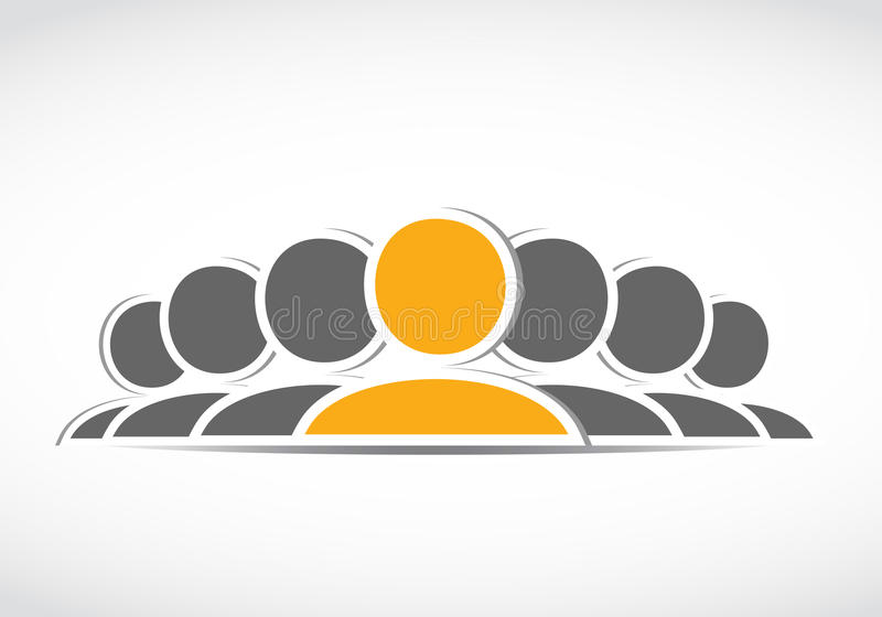 Κοινωνικό εικονίδιο ομάδας μέσων ελεύθερη απεικόνιση δικαιώματος