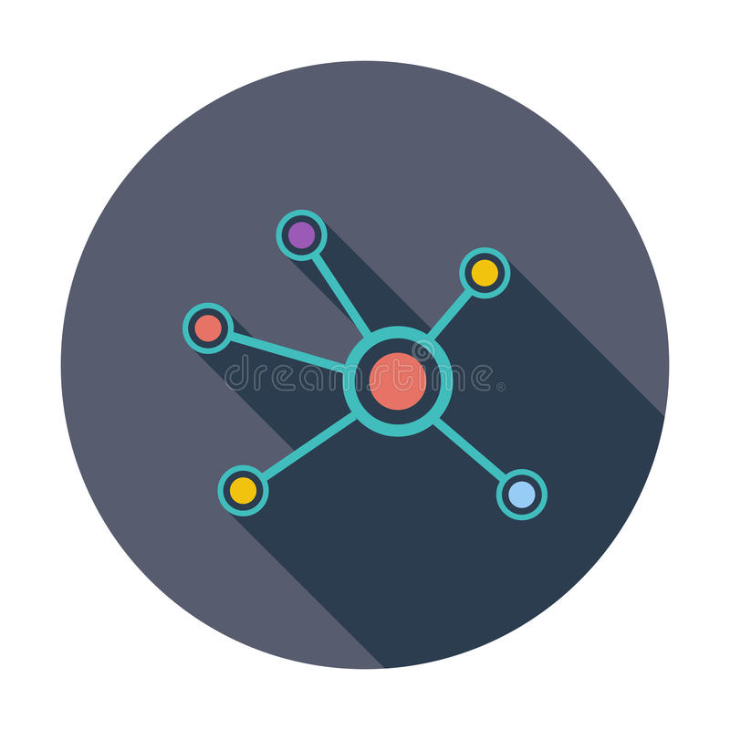 Κοινωνικό ενιαίο εικονίδιο δικτύων ελεύθερη απεικόνιση δικαιώματος