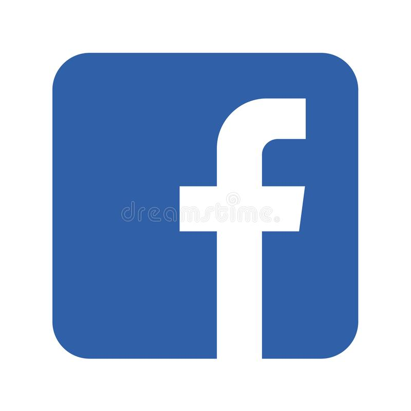 Κοινωνικό κουμπί εικονιδίων μέσων Facebook διανυσματική απεικόνιση