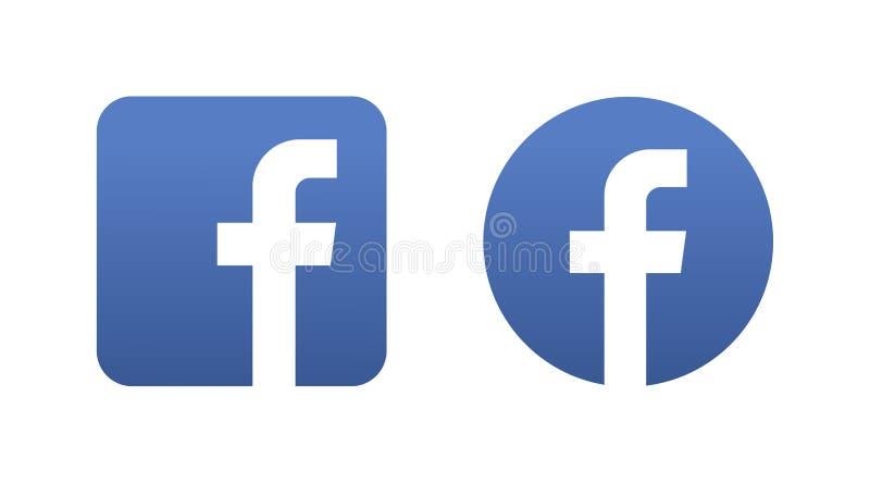 Κοινωνικό κουμπί εικονιδίων μέσων Facebook ελεύθερη απεικόνιση δικαιώματος