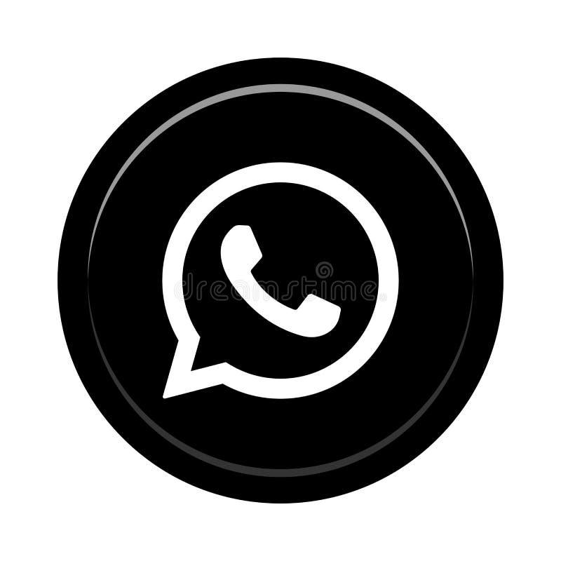 Κοινωνικό κουμπί εικονιδίων μέσων Whatsapp ελεύθερη απεικόνιση δικαιώματος