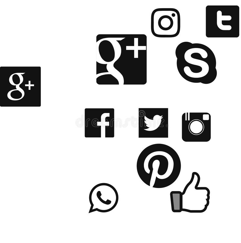 Κοινωνικό λογότυπο δικτύων ελεύθερη απεικόνιση δικαιώματος