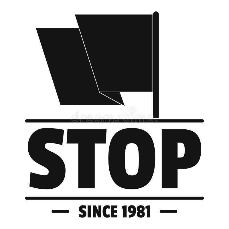 Κοινωνικό λογότυπο στάσεων διαμαρτυρίας, απλό μαύρο ύφος ελεύθερη απεικόνιση δικαιώματος