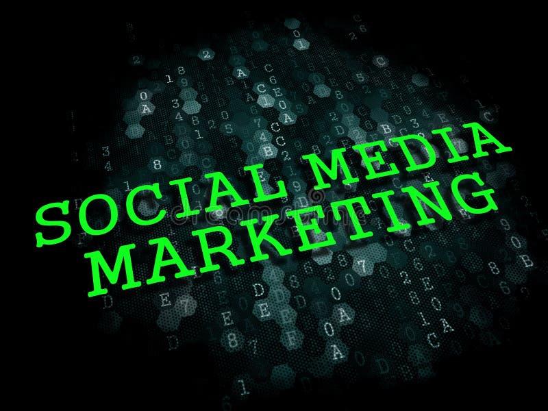 Κοινωνικό μάρκετινγκ μέσων. Επιχειρησιακή έννοια. διανυσματική απεικόνιση