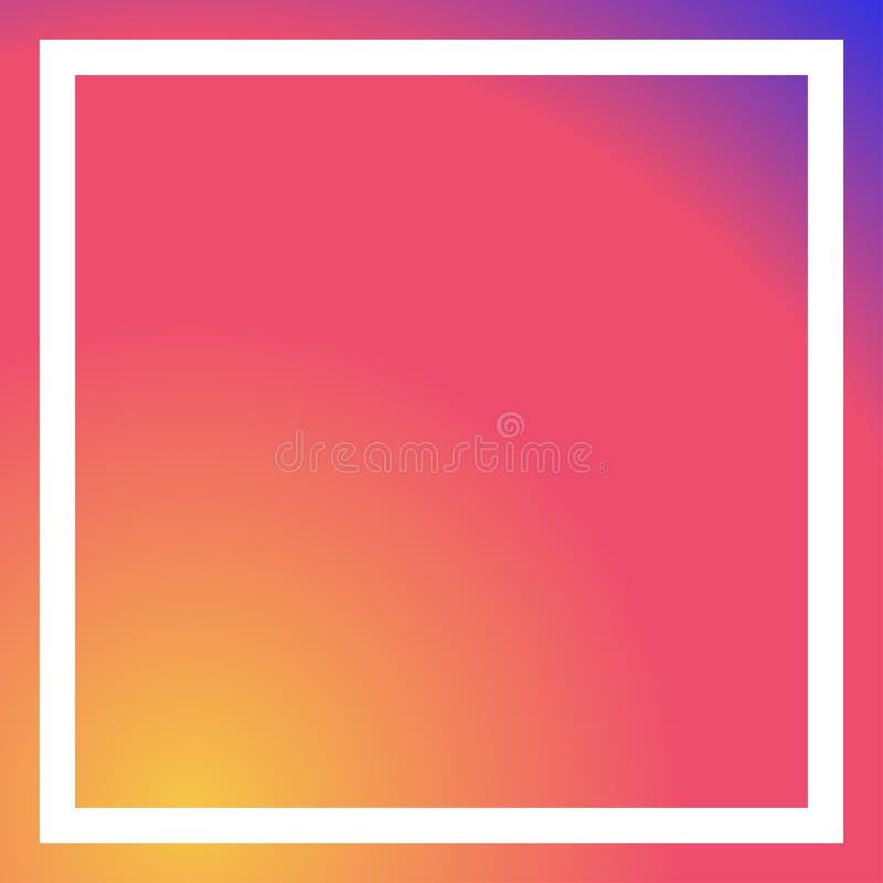Κοινωνικό μέσων ροζ vectror πλαισίων υποβάθρου άσπρο απεικόνιση αποθεμάτων