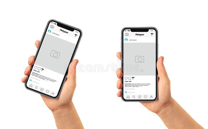 Κοινωνικό μετα πρότυπο μέσων - app φωτογραφιών πρότυπο στοκ φωτογραφία με δικαίωμα ελεύθερης χρήσης